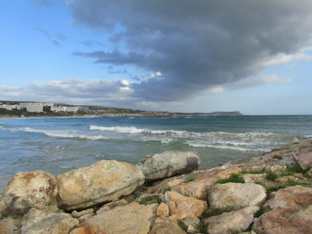 Cyprus beach before a storm
